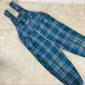 Osh Kosh B'Gosh Blue Green Plaid Toddler ? 4T 5T